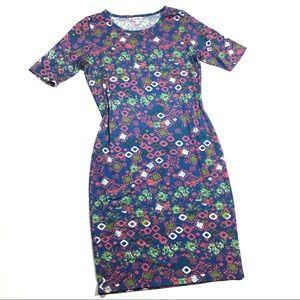 ☕️5/$25 Lularoe Colorful Midi Julia Dress